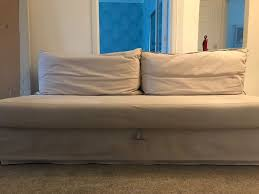 himmene sleeper sofa lofallet beige three seat ikea sofa bed himmene in lofallet beige ebay