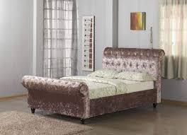 Velvet Sleigh Bed Pandora Sleigh Bed Bf Beds Cheap Beds Leeds