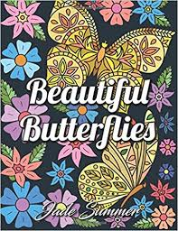 amazon com beautiful butterflies an coloring book with