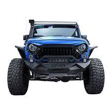 jeep light bar opar textured front bumper w led light bar for 07 17 jeep