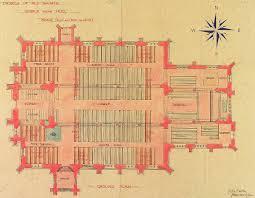 All Saints Church Floor Plans by History