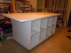 How To Make A Sewing Table by How To Make A Sewing Table From Side Tables And Cheep Door From