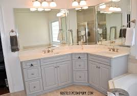 paris grey hueology studio painting bathroom cabinets master bath makeover