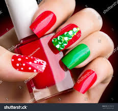christmas nail art manicure winter holiday stock photo 350759516