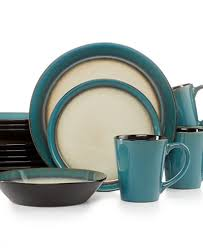 pfaltzgraff everyday dinnerware teal 16 pc set service for