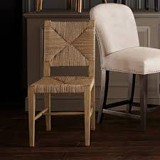 side chairs for dining room rutherford woven rush dining side chair williams sonoma