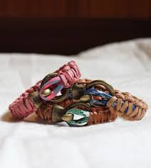 diy bracelet rope images Diy leather climbing rope macrame bracelets the stripe jpg