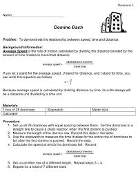 Speed Velocity And Acceleration Worksheet With Answers Domino Dash Activity Found On Science Class Select Physics