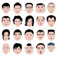 man face head shape hairstyle round fat thin old by leremy