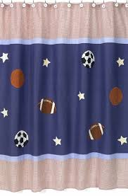 Kids Bathroom Shower Curtain Playball Sports Kids Bathroom Fabric Bath Shower Curtain Only 39 99