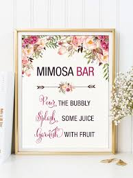 Bridal Shower Ideas by Floral Mimosa Bar Sign For A Bridal Shower Idea To Marry