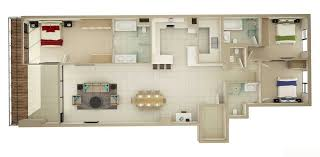 3 bedroom flat floor plan 50 three 3 bedroom apartment house plans architecture design