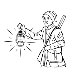 impressive harriet tubman underground railroad coloring page with