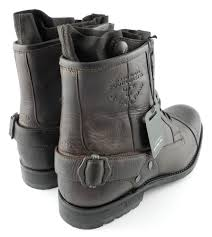 mens brown motorcycle boots mens g star raw cinch collar leather military boots brown sizes 6