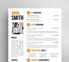Unique Resume Templates Free Cv Design Cover Letter Instant Download Printable Resume