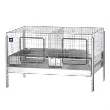 Stackable Rabbit Hutches Series 3000 Stacking Cage 36 X 24 X 14 2 Comp