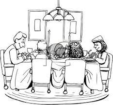 royalty free clip image family praying thanksgiving dinner