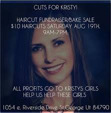 10 haircut fundraiser parking lot sale to benefit daughters of