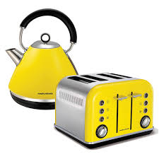 Morphy Richards Accents Red 4 Slice Toaster Morphy Richards 4 Slice Toaster U0026 Kettle Pack Yellow Billy Guyatts