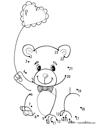 teddy bear u0026 heart balloon coloring pages hellokids com