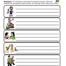 Quotation Marks Worksheet Printables Grammar Worksheets Whelper Worksheets Printables