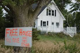 home story 2 free house u201d sign attracts attention near blairstown home will be