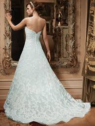 a line sweetheart court train lace blue wedding dress h1cl0128 b