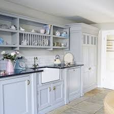 blue country kitchen home living room ideas