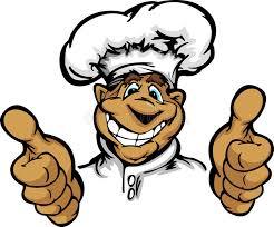chapeau de cuisine chef de sourire de cuisine de dessin animé avec le chapeau