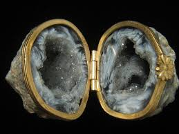 geode engagement ring box crystal ring box on the hunt