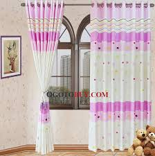 Pink And Purple Curtains Pink Purple Cotton Kids Curtains Printed With Stripe And Star