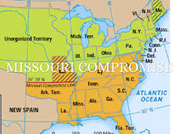 1820 Map Of United States by Missouri Compromise Map Outline Map Of The United States 1820 25