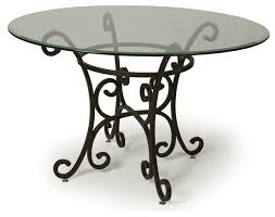 glass top for table round dining tables inspiring steel dining table steel dining table within