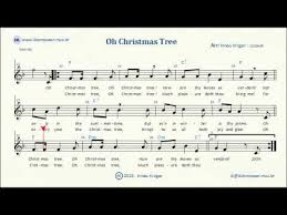 o christmas tree sheet music lyrics chords karaoke youtube