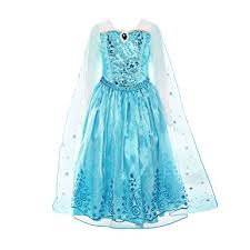 light blue long sleeve dress amazon com relibeauty girls sequin princess costume long sleeve