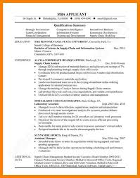 11 mba application resume sample informal letters