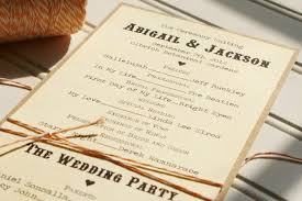 wedding programs rustic diy rustic wedding program ideas picture ideas references