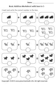 kindergarten addition math worksheets worksheets