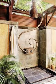 design ideas unusual outdoor shower design with stone tiles