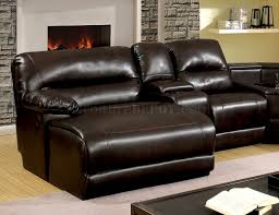 reclining sectional sofa cm6822br in brown leatherette glasgow reclining sectional sofa cm6822br in brown leatherette fass cm6822br t glasgow