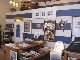 nautical themed room ideas clear glass table lamp leather