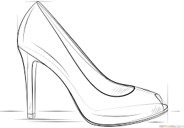 how to draw coloring pages how to draw a high heel shoe step by step drawing tutorials