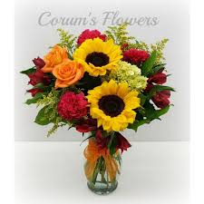 flowers and gifts sunflower brights bouquet council bluffs ia omaha ne florist