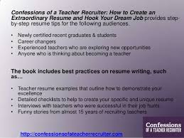A Teacher Resume Examples by Teacher Resume Tips Confessions Of A Teacher Recruiter Press Kit