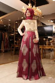 pinar sems şems harem evening dress burgundy