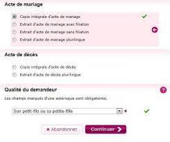 acte de mariage en ligne gratuit demander un acte d état civil généalogie facile