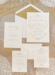 and white wedding invitations gold and white wedding invitations elizabeth designs the