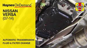 how to change the transmission fluid on a nissan versa battery