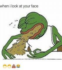 Frog Face Meme - when i look at your face pepe the frog meme on sizzle