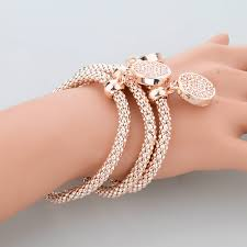 fashion jewelry charm bracelet images Gold silver round hollow charm bracelets free shipping jpg